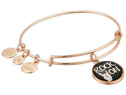 Alex and Ani Words are Powerful - Seaside Rock On Bangle Bracelet - Shiny Rose Gold