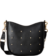 Tommy Hilfiger - City Leather Star Studded Pebble Leather Convertible Hobo