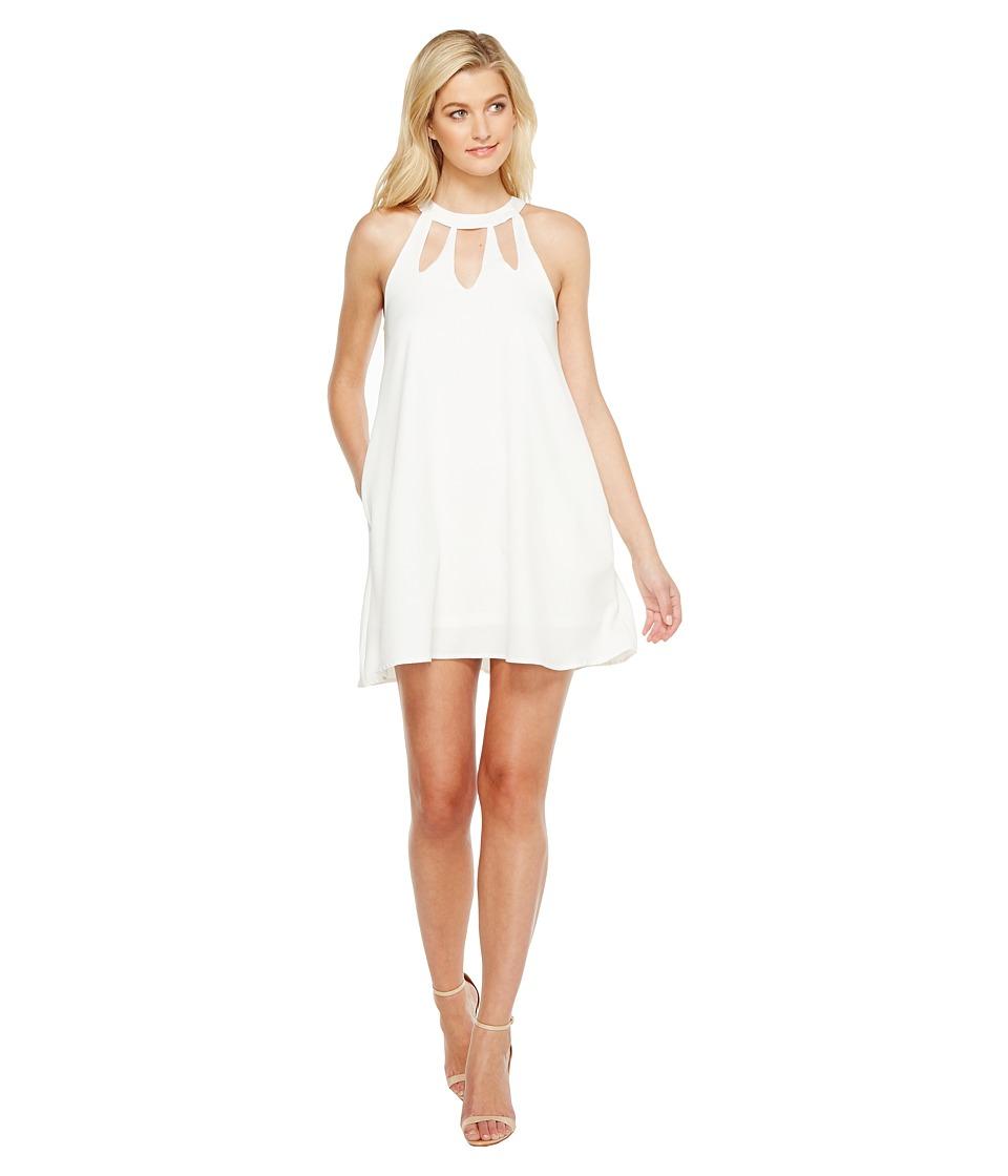 Brigitte Bailey Ashly High Neck Cut Out Dress (Off-White) Women