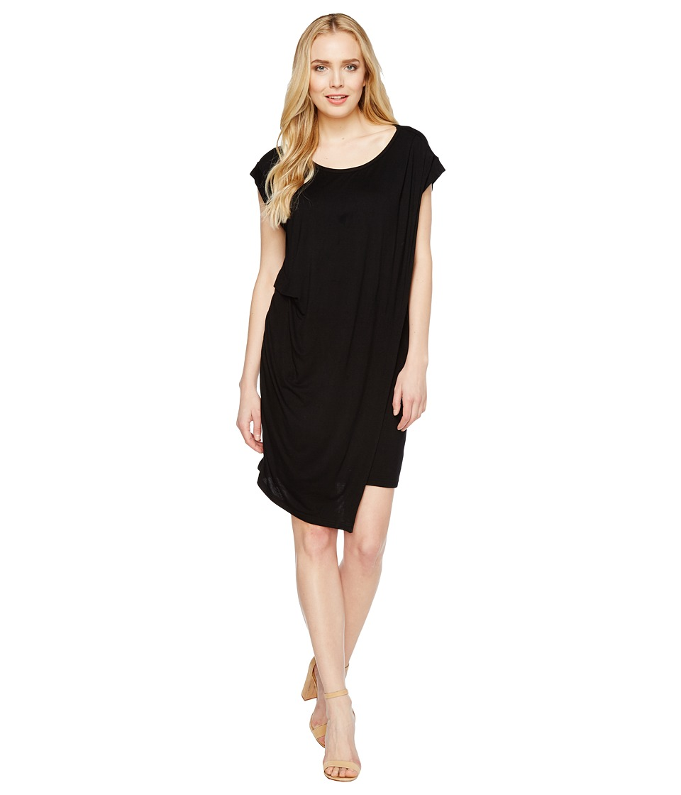 Culture Phit Addy Side-Cinched Cap Sleeve Dress (Black) Women