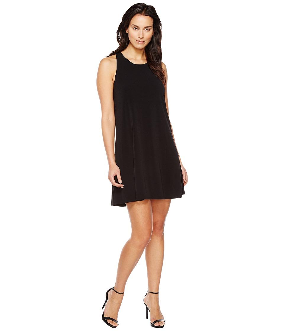 CeCe - Crepe Knit Twist Back Halter Dress
