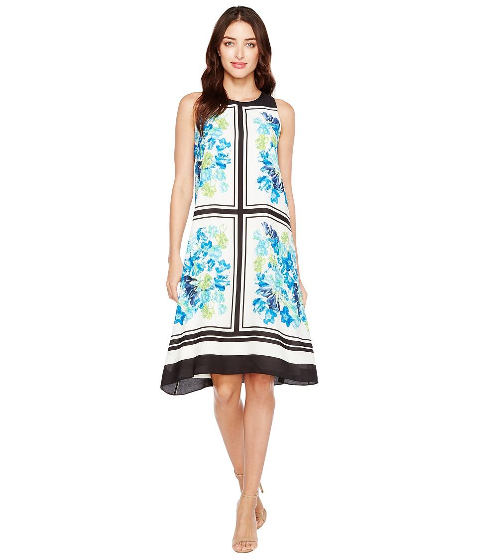 CeCe Whispering Tile Blooms Halter Dress (New Ivory) Women