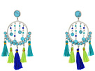 Dream Catcher Tassel Statement Earrings