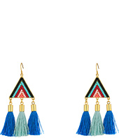 Rebecca Minkoff - Catalina Seed Bead Statement Earrings with Tassels