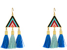 Catalina Seed Bead Statement Earrings with Tassels