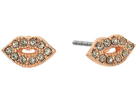 Rebecca Minkoff Lips Stud Earrings - Rose Gold/Black Diamond