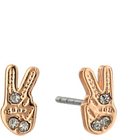 Rebecca Minkoff - Peace Sign Stud Earrings