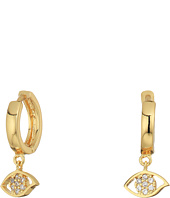 Rebecca Minkoff - Huggie Hoop Earrings with Evil Eye Charm