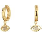 Rebecca Minkoff - Huggie Hoop Earrings with Evil Eye Charm