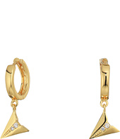 Rebecca Minkoff - Huggie Hoop Earrings with Paper Plane Charm