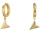 Huggie Hoop Earrings with Paper Plane Charm