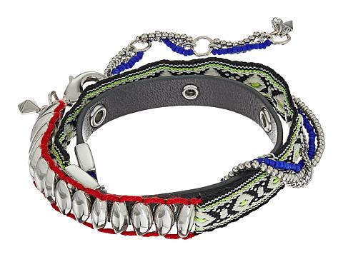Rebecca Minkoff Mixed Media Wrap Bracelet - Silver/Multi
