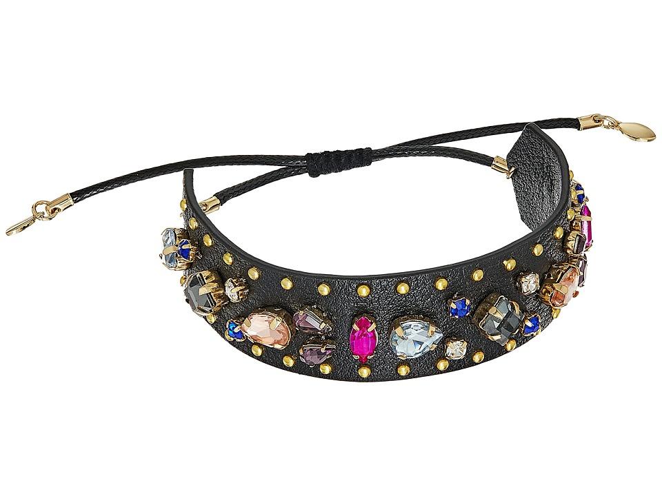 Rebecca Minkoff - Jeweled Guitar Strap Bracelet (Black Multi) Bracelet