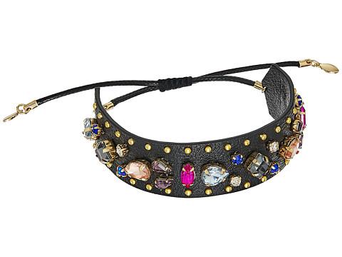 Rebecca Minkoff Jeweled Guitar Strap Bracelet - Black Multi
