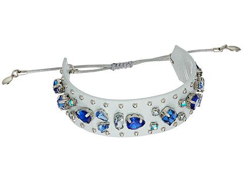 Rebecca Minkoff Jeweled Guitar Strap Bracelet - Putty/Blue Multi