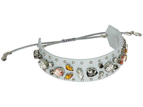 Rebecca Minkoff Jeweled Guitar Strap Bracelet - Putty/Neutral Multi