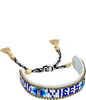 Rebecca Minkoff - Good Vibes Only Seed Beaded Friendship Bracelet