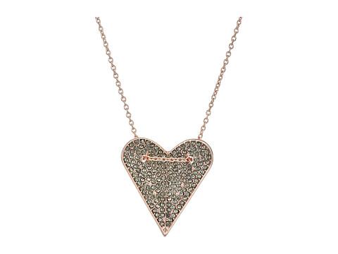 Rebecca Minkoff Pave Heart Pendant Necklace - Rose Gold/Black Diamond
