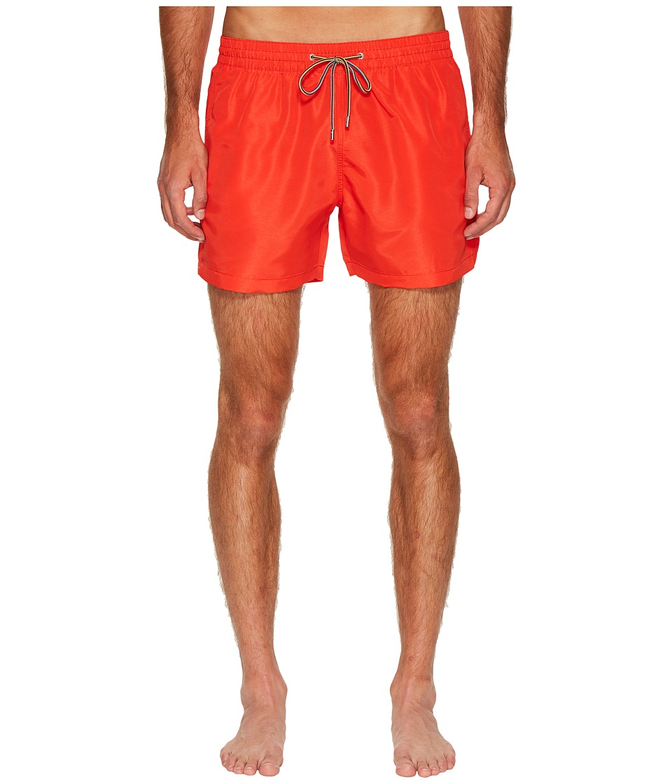 Paul Smith Solid Classic Swim Shorts (Red) Men