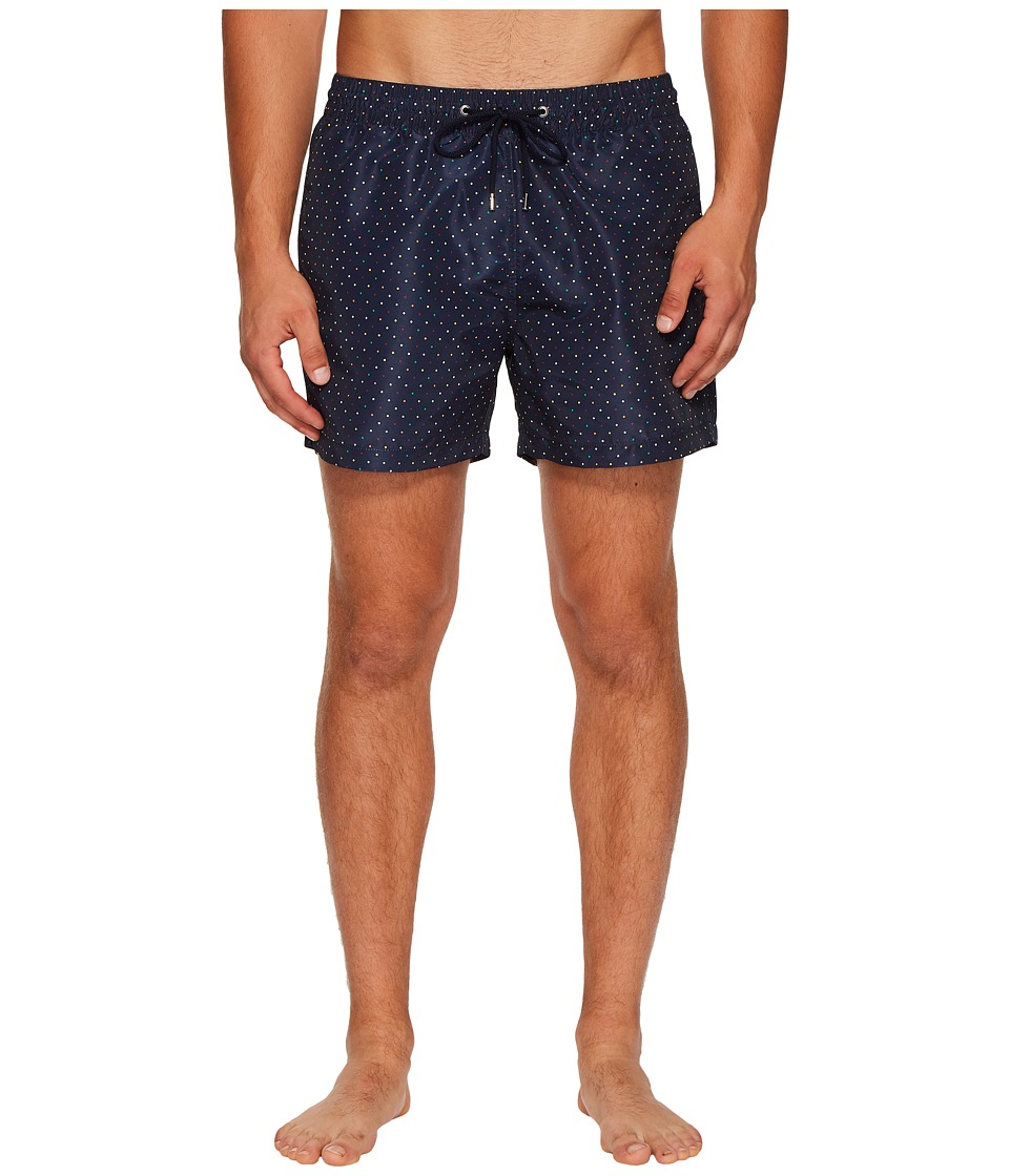 Paul Smith - Polka Dot Classic Swim Shorts (Black) Mens Swimwear