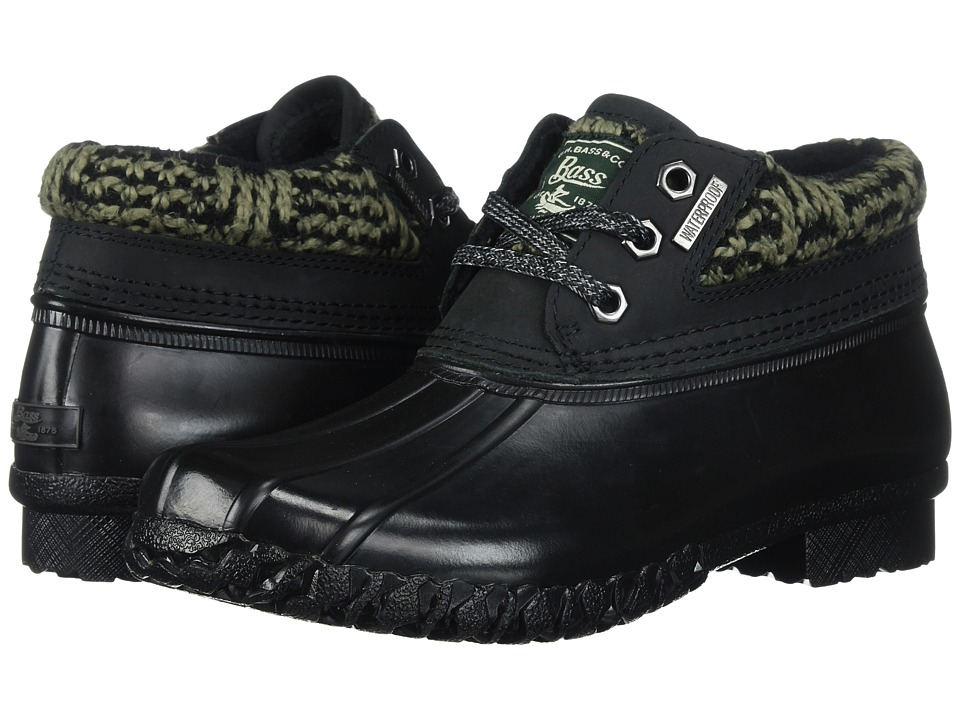 G.H. Bass & Co. Dorothy (Black/Black Leather/Textile) Women