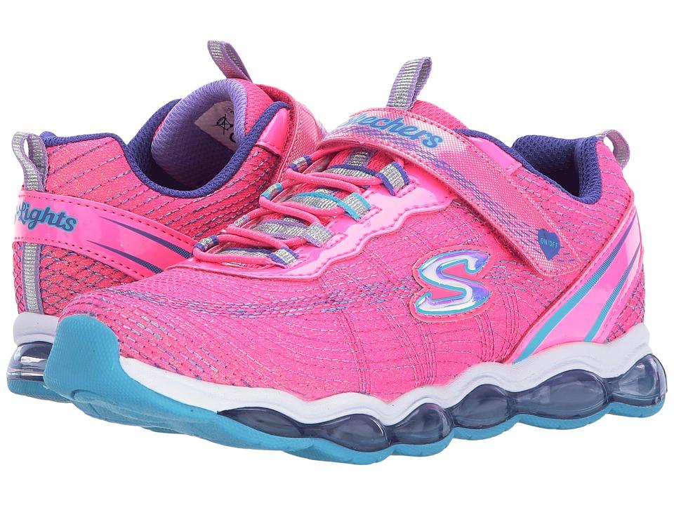 SKECHERS KIDS Glimmer Lights 10833L Lights (Little Kid/Big Kid) (Neon Pink/Blue) Girl's Shoes