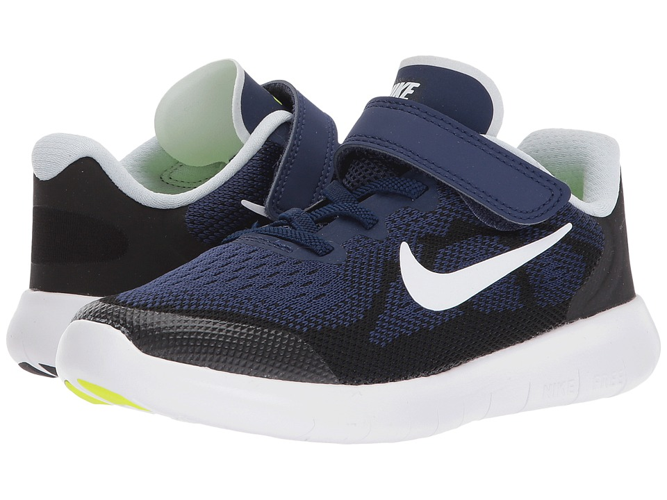 Nike Kids Free RN 2017 (Little Kid) (Binary Blue/White/Black/Volt) Boys Shoes