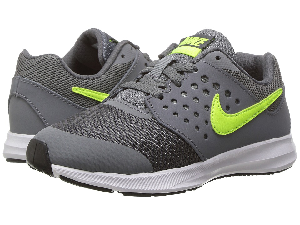 Nike Kids Downshifter 7 Wide (Little Kid) (Cool Grey/Volt/Dark Grey/White) Boys Shoes