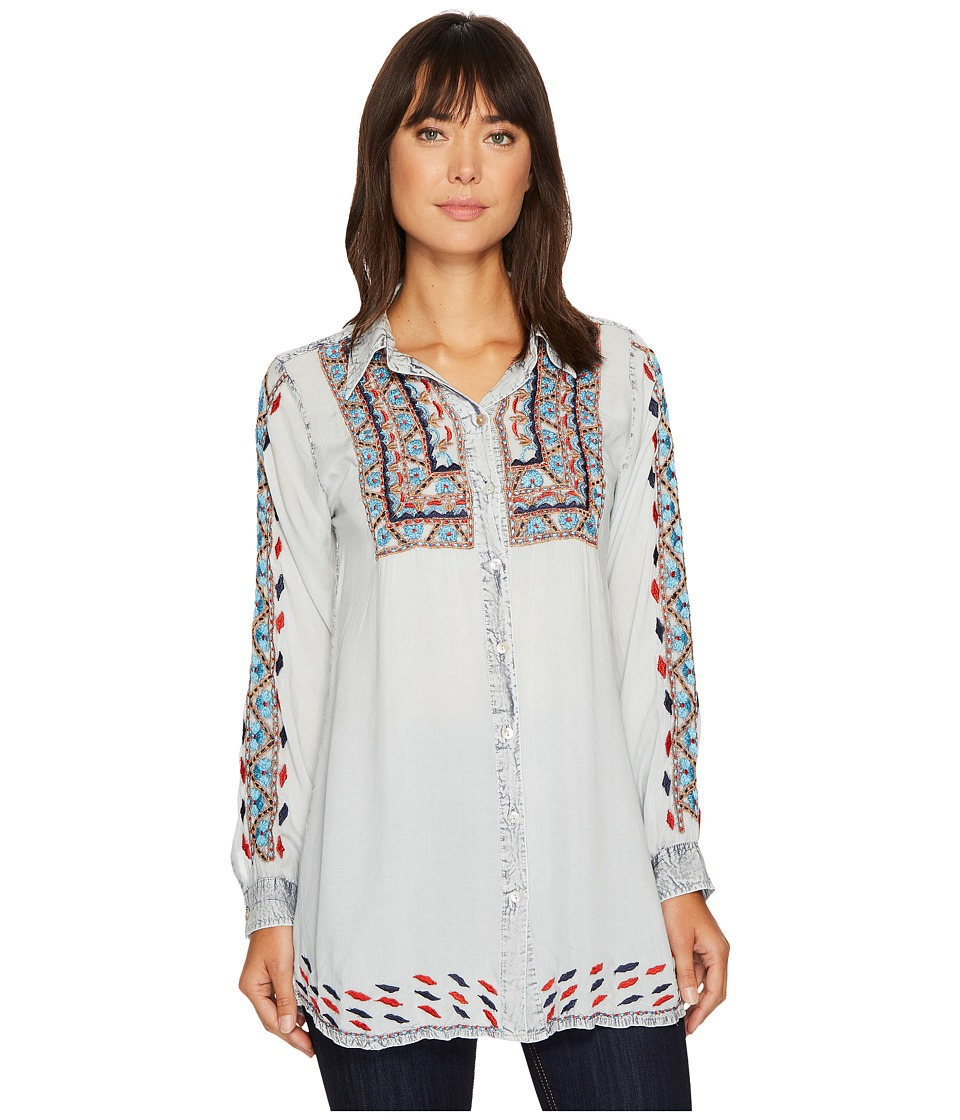 Scully Deanna Embroidered Tunic (Light Blue) Women