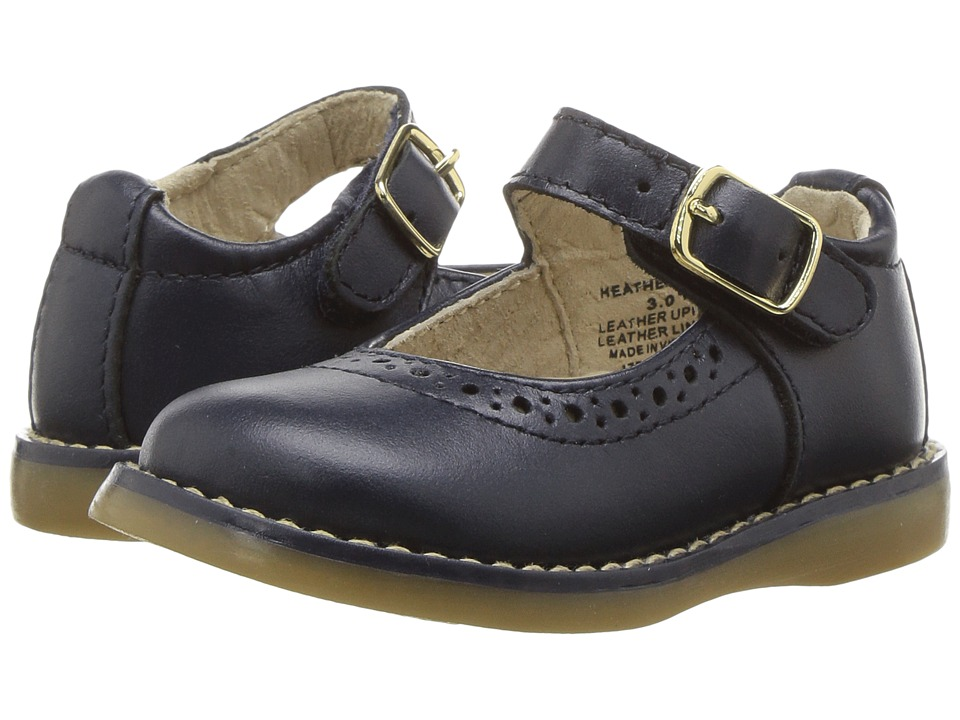 FootMates Heather (Infant/Toddler/Little Kid) (Navy Pearlized) Girl's Shoes