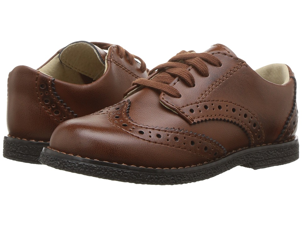 FootMates Logan (Toddler/Little Kid) (Cognac Burnished) Boys Shoes