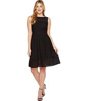 Ellen Tracy - Eyelet Midi Dress