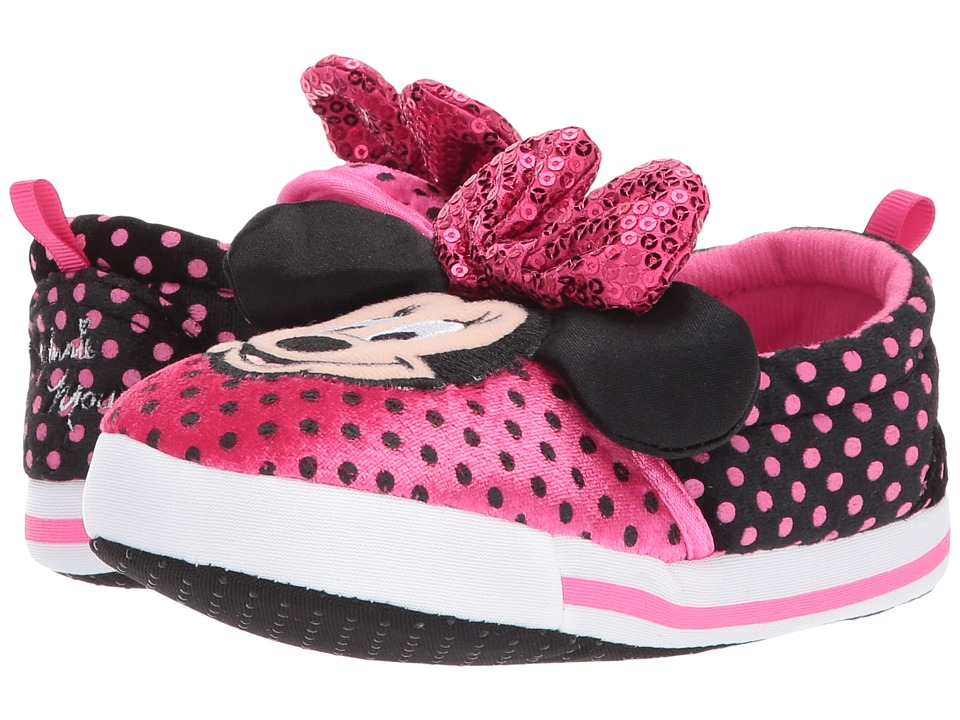 Minnie Slipper (Toddler/Little Kid) (Pink/Black) Girls Shoes
