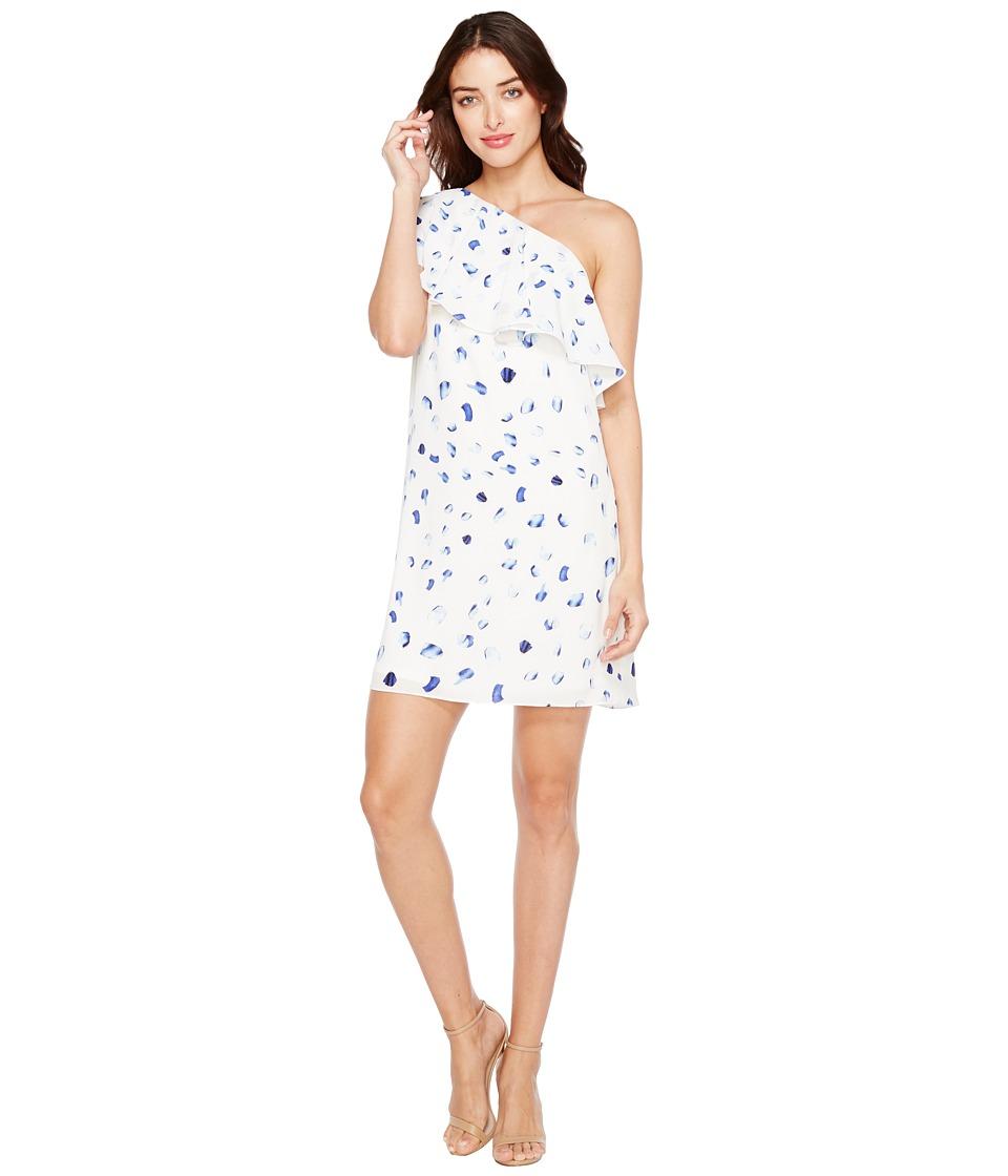 CeCe - Floating Petals Ruffled One Shoulder Dress
