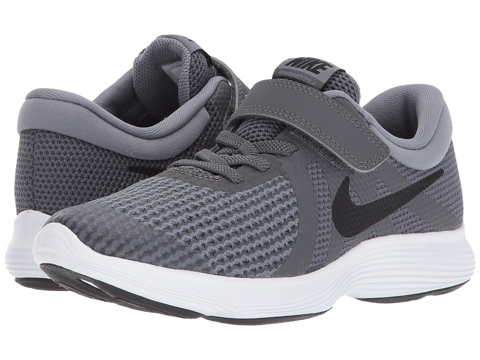 Nike Kids Revolution 4 (Little Kid) (Dark Grey/Black/Cool Grey/White) Boys Shoes