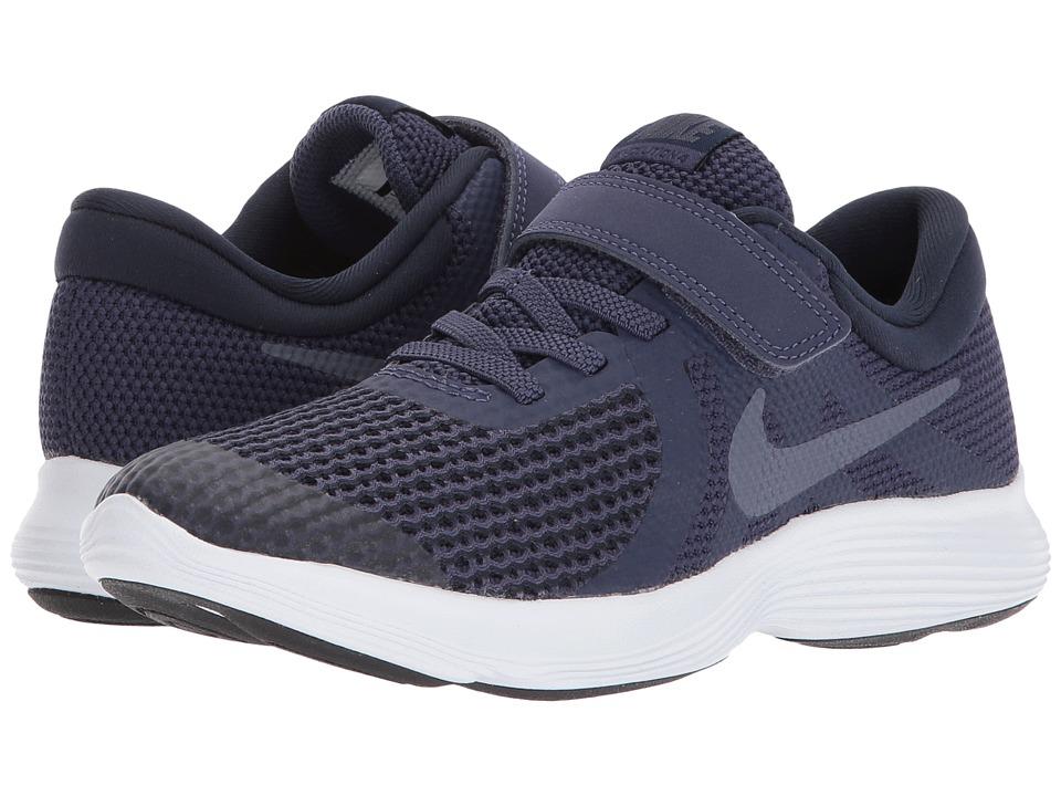Nike Kids Revolution 4 (Little Kid) (Natural Indigo/Light Carbon/Obsidian/Black) Boys Shoes