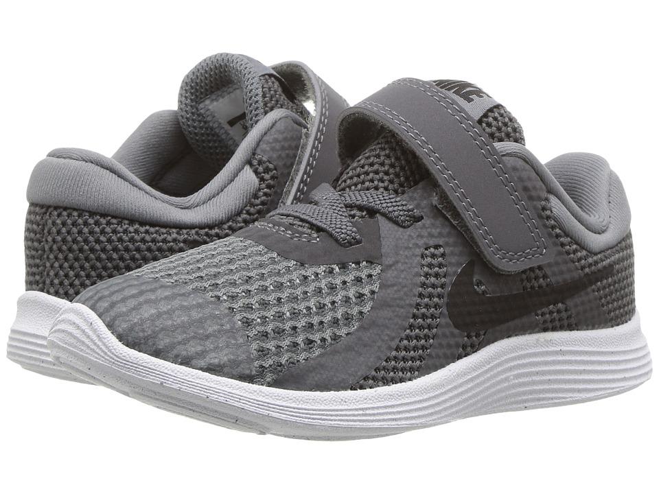 Nike Kids Revolution 4 (Infant/Toddler) (Dark Grey/Black/Cool Grey/White) Boys Shoes