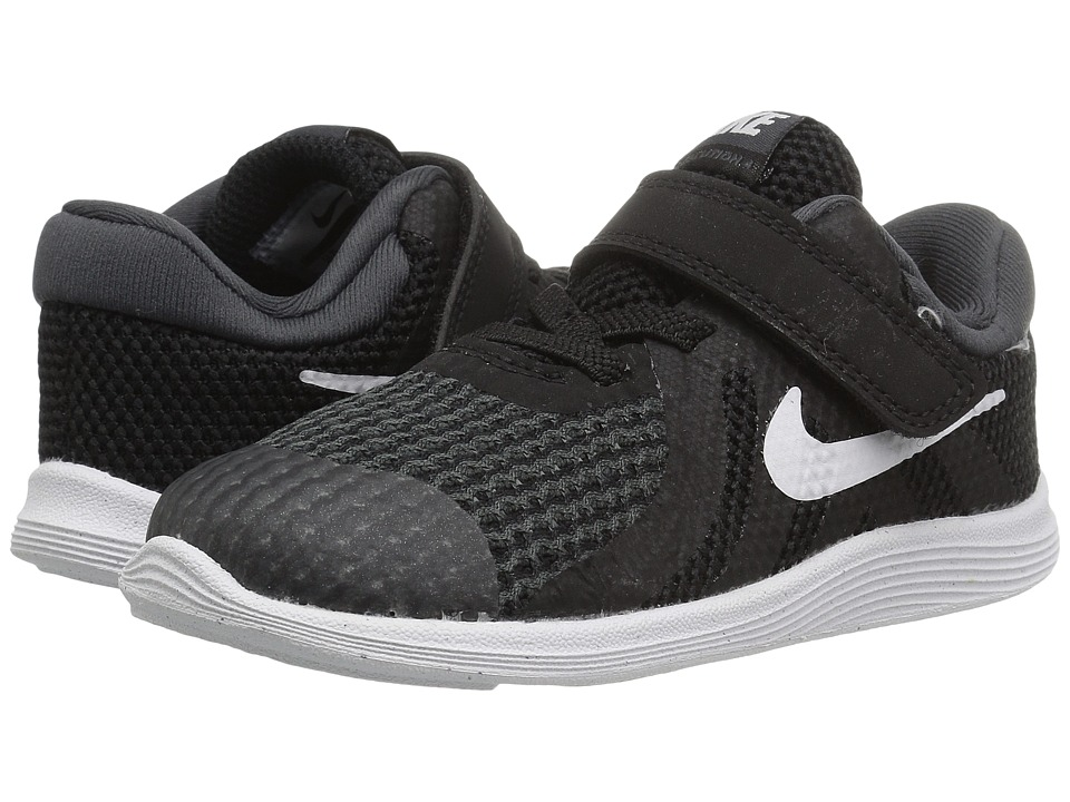 Nike Kids Revolution 4 (Infant/Toddler) (Black/White/Anthracite) Boys Shoes