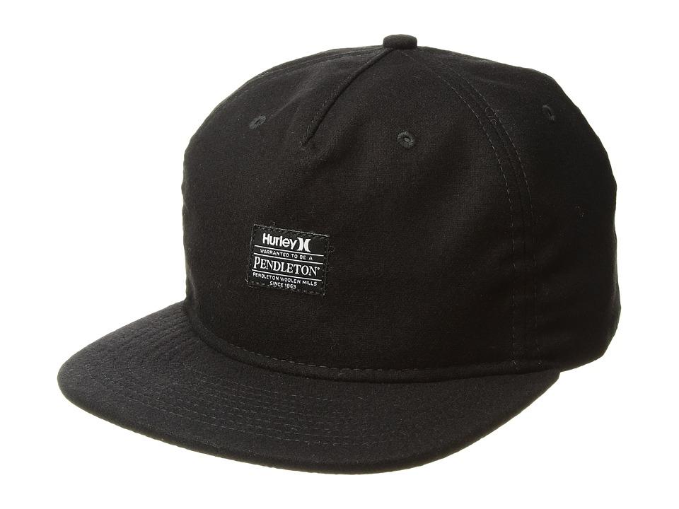 Hurley Pendleton 5-Panel Hat (Black) Baseball Caps