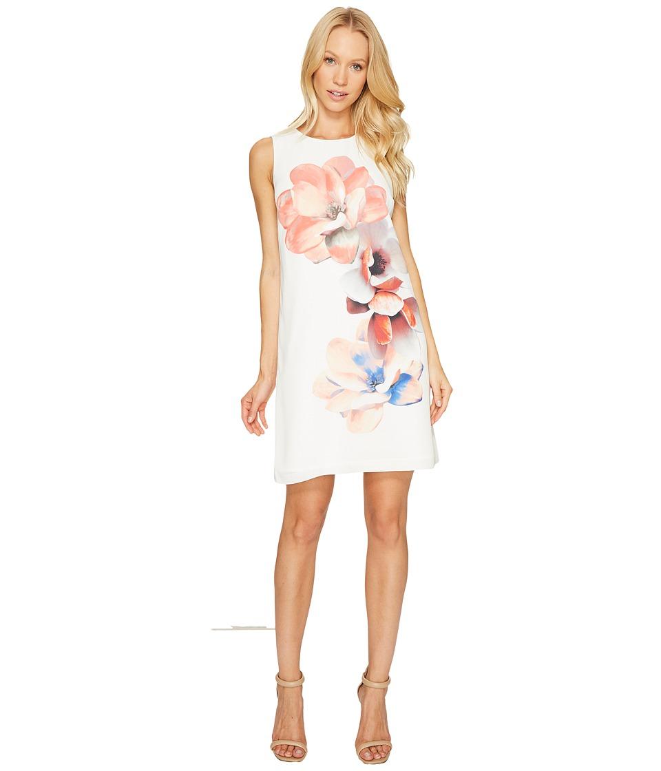 CeCe Sleeveless Garden Bloom Shift Dress (New Ivory) Women