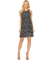 CeCe - Twist Back Modern Ditsy Halter Dress