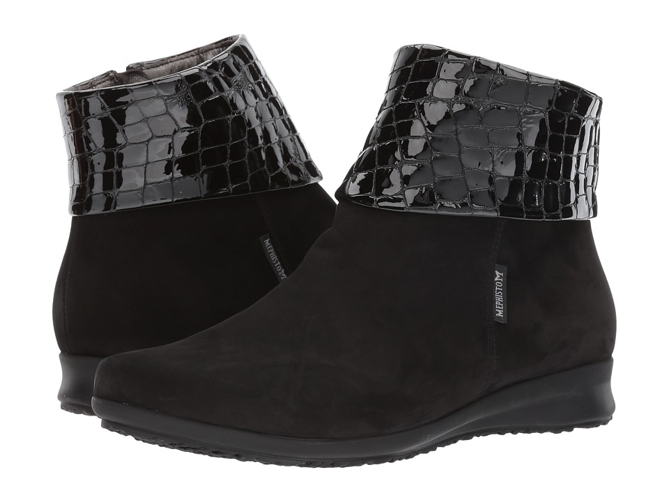 Mephisto Fiducia (Black Bucksoft/Croco) Women