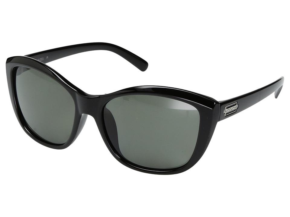 SunCloud Polarized Optics Skyline (Black/Polarized Gray Polycarbonate Lens) Sport Sunglasses