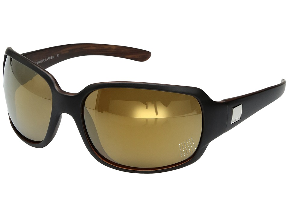 SunCloud Polarized Optics Cookie (Matte Black Backpaint/Polarized Sienna Mirror Polycarbonate Lens) Sport Sunglasses
