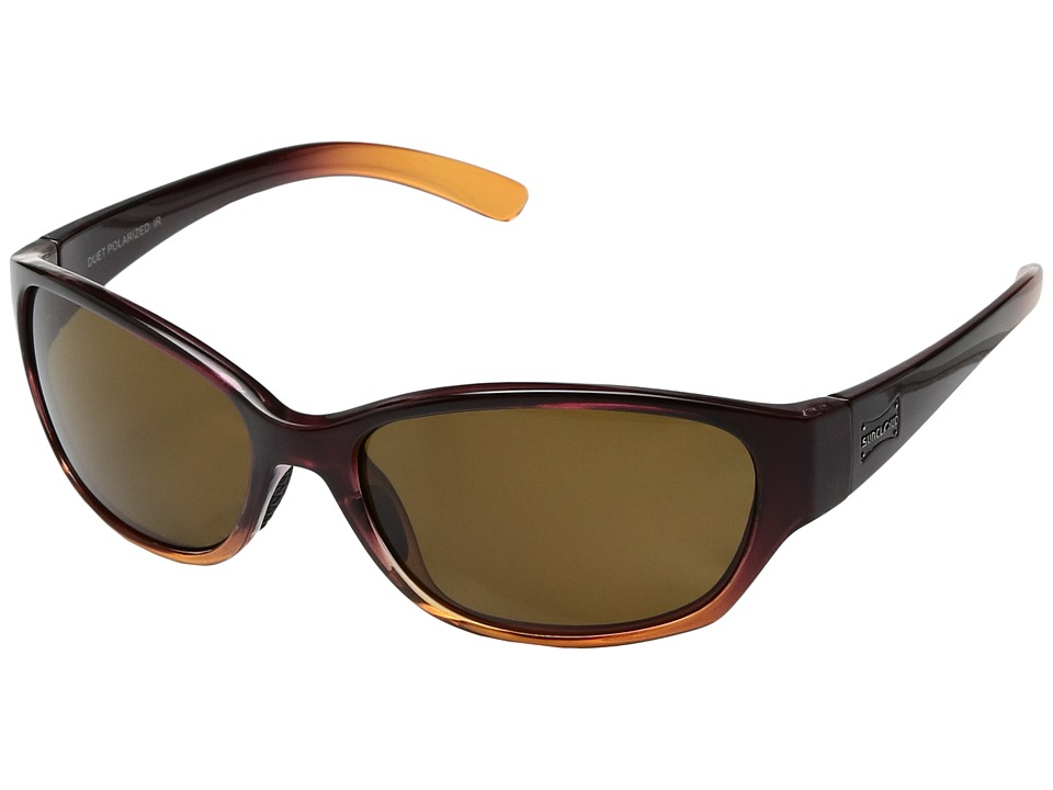 SunCloud Polarized Optics Duet (Wine Fade/Polarized Brown Polycarbonate Lens) Sport Sunglasses
