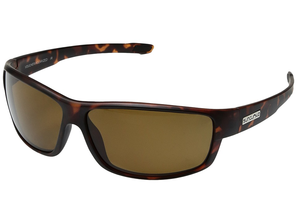 SunCloud Polarized Optics - Voucher (Matte Tortoise/Polarized Brown Polycarbonate Lens) Sport Sunglasses