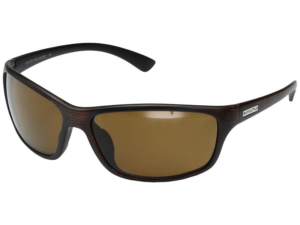 SunCloud Polarized Optics Sentry (Burnished Brown/Polarized Brown Polycarbonate Lens) Sport Sunglasses