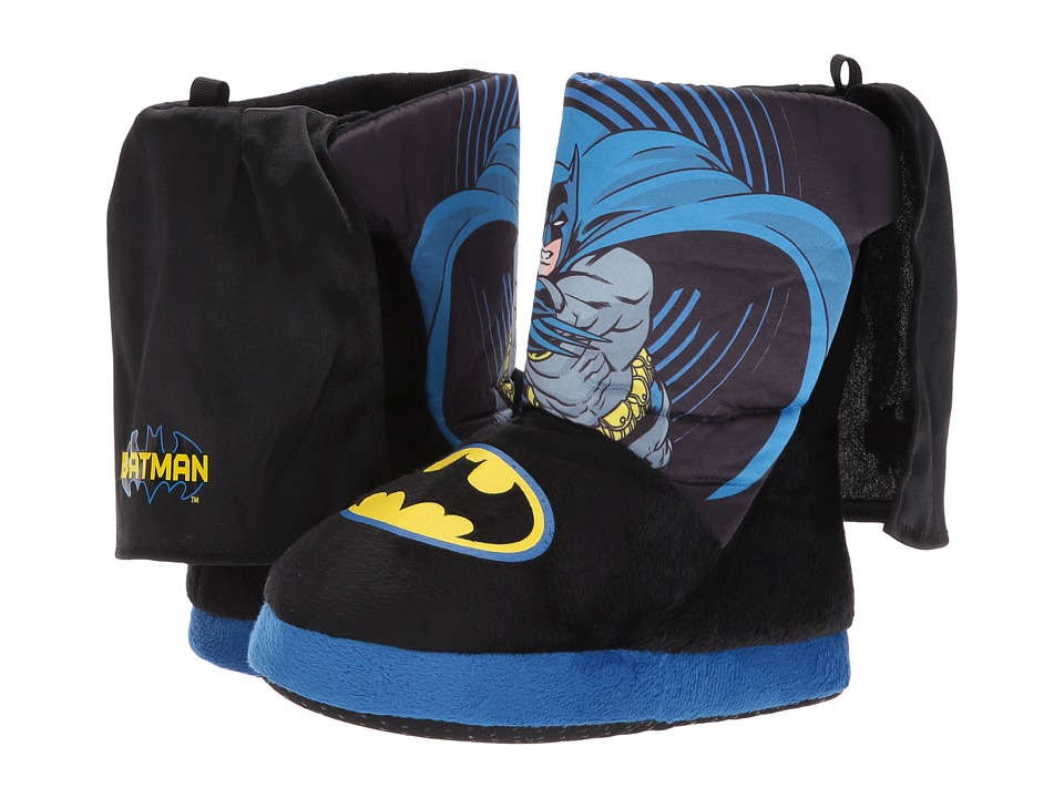 Batman Slipper Boot (Toddler/Little Kid) (Black/Blue) Boys Shoes