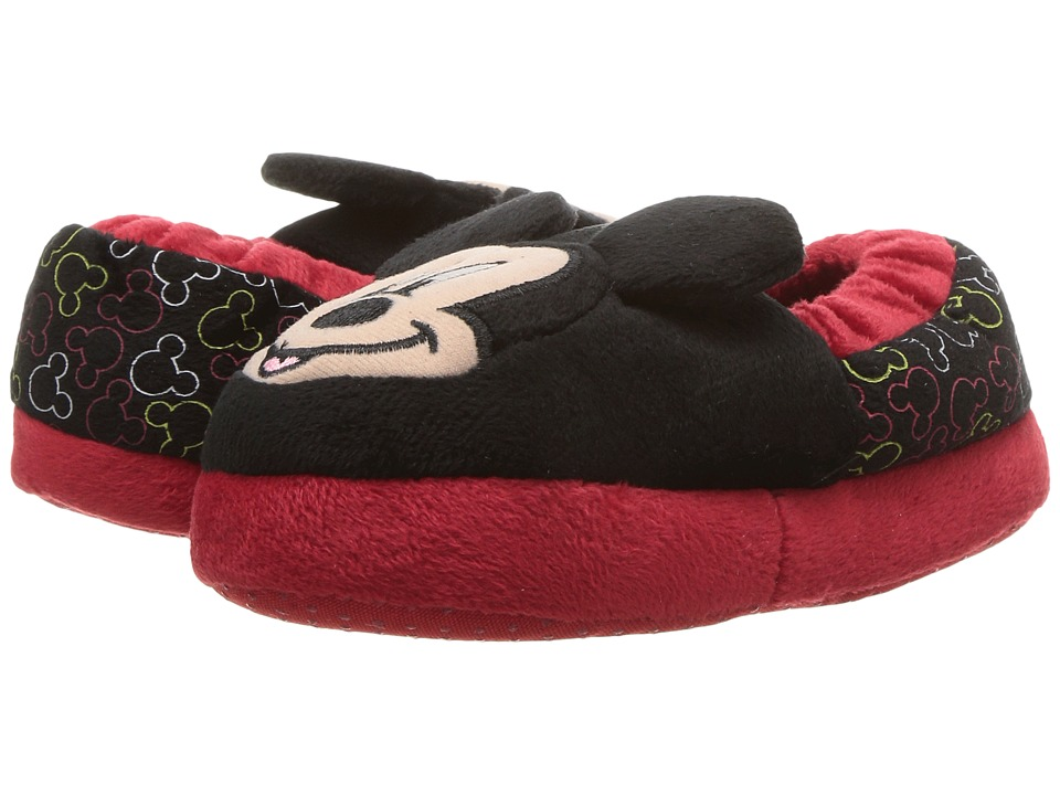Mickey Slipper (Toddler/Little Kid) (Black/Red 2) Boys Shoes