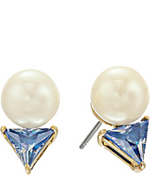 Kate Spade New York - Bright Ideas Triangle Pearl Stud Earrings
